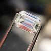 0.91 Emerald Cut Diamond GIA I VVS1 15