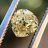 .59ct Vintage Heart Diamond, GIA Fancy Light Yellow I1 0