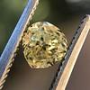 .59ct Vintage Heart Diamond, GIA Fancy Light Yellow I1 5