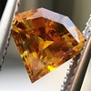 .84ct Fancy Deep Orange-Yellow Shield Shape Diamond, GIA 7