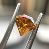 .84ct Fancy Deep Orange-Yellow Shield Shape Diamond, GIA 9
