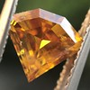 .84ct Fancy Deep Orange-Yellow Shield Shape Diamond, GIA