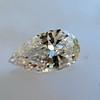 .95ct Vintage Pear Shape Diamond, GIA F I1 9