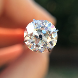 2.13ct Old Mine Cut Diamond GIA J SI2 OMC