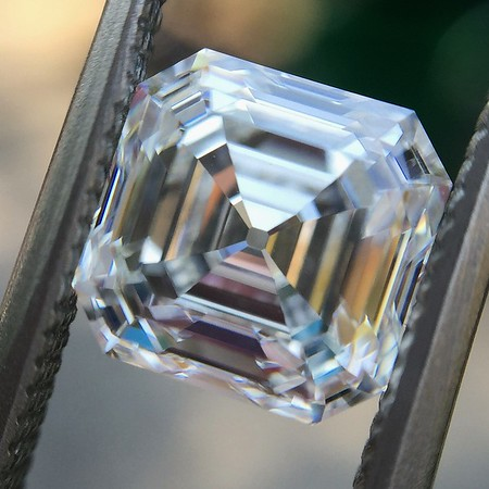 2.15ct Vintage Asscher Cut Diamond GIA H VS2
