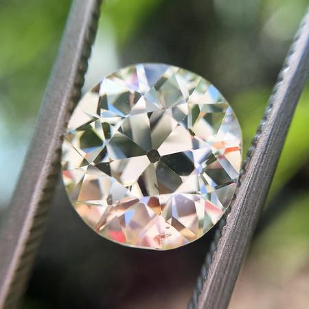 2.20ct Old European Cut Diamond AGS N SI2