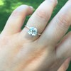 2.27ct Antique Cushion Cut Diamond GIA J VVS2 8