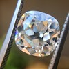 2.27ct Antique Cushion Cut Diamond GIA J VVS2 4