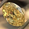 2.30ct Antique Oval GIA Fancy Intense Yellow VS2 0