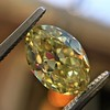 2.30ct Antique Oval GIA Fancy Intense Yellow VS2 9