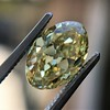 2.30ct Antique Oval GIA Fancy Intense Yellow VS2 12