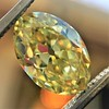 2.30ct Antique Oval GIA Fancy Intense Yellow VS2 5