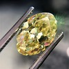2.30ct Antique Oval GIA Fancy Intense Yellow VS2 15