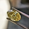 2.30ct Antique Oval GIA Fancy Intense Yellow VS2 2