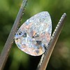 2.31ct Vintage Pear Cut Diamond GIA D VS2 3