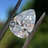 2.31ct Vintage Pear Cut Diamond GIA D VS2 0