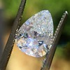 2.31ct Vintage Pear Cut Diamond GIA D VS2 13