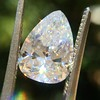 2.31ct Vintage Pear Cut Diamond GIA D VS2 18