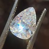 2.31ct Vintage Pear Cut Diamond GIA D VS2 23
