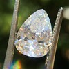 2.31ct Vintage Pear Cut Diamond GIA D VS2 17