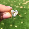 2.37ct Heart Shape Rose Cut Diamond GIA H VVS2 12