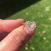 2.29ct Heart Shape Rose Cut Diamond GIA H VVS2