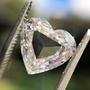 2.37ct Heart Shape Rose Cut Diamond GIA H VVS2 8