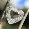 2.37ct Heart Shape Rose Cut Diamond GIA H VVS2 7