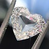 2.37ct Heart Shape Rose Cut Diamond GIA H VVS2 6