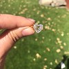 2.37ct Heart Shape Rose Cut Diamond GIA H VVS2 13