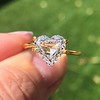 2.37ct Heart Shape Rose Cut Diamond GIA H VVS2 2