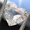 2.37ct Heart Shape Rose Cut Diamond GIA H VVS2 5