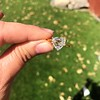 2.37ct Heart Shape Rose Cut Diamond GIA H VVS2 14