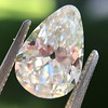 2.61ct Antique Pear Cut Diamond GIA I SI1 1