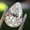 2.61ct Antique Pear Cut Diamond GIA I SI1 9