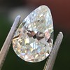 2.61ct Antique Pear Cut Diamond GIA I SI1 10