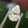 2.61ct Antique Pear Cut Diamond GIA I SI1 18