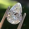 2.61ct Antique Pear Cut Diamond GIA I SI1 3