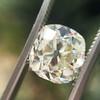 3.01ct Antique cushion Cut Diamond Est S/T Color, VS2 Clarity 16