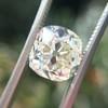 3.01ct Antique cushion Cut Diamond Est S/T Color, VS2 Clarity 4