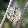 3.01ct Antique cushion Cut Diamond Est S/T Color, VS2 Clarity 0