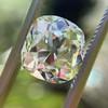 3.01ct Antique cushion Cut Diamond Est S/T Color, VS2 Clarity 10