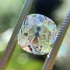 3.01ct Antique cushion Cut Diamond Est S/T Color, VS2 Clarity 7