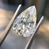 3.12ct Antique Pear Shaped Diamond GIA L VS1 13