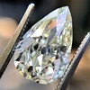 3.12ct Antique Pear Shaped Diamond GIA L VS1 0