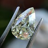 3.12ct Antique Pear Shaped Diamond GIA L VS1 9