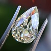 3.12ct Antique Pear Shaped Diamond GIA L VS1 10