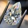 3.12ct Antique Pear Shaped Diamond GIA L VS1 5