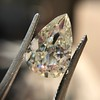 3.12ct Antique Pear Shaped Diamond GIA L VS1 14