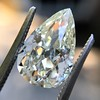 3.12ct Antique Pear Shaped Diamond GIA L VS1 8